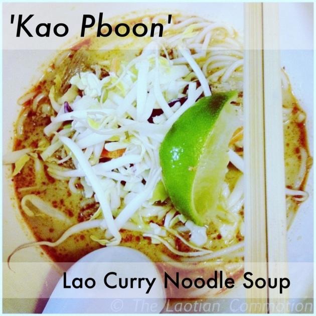 Laotian curry noodles soup