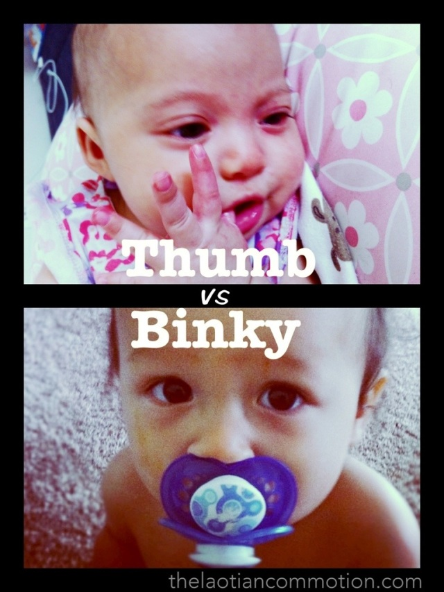 Which is better? Thumb or binky?