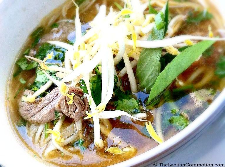 Lao pho lao style beef noodle soup the laotian commotion lao pho recipe lao pho lao style beef noodle soup forumfinder Choice Image